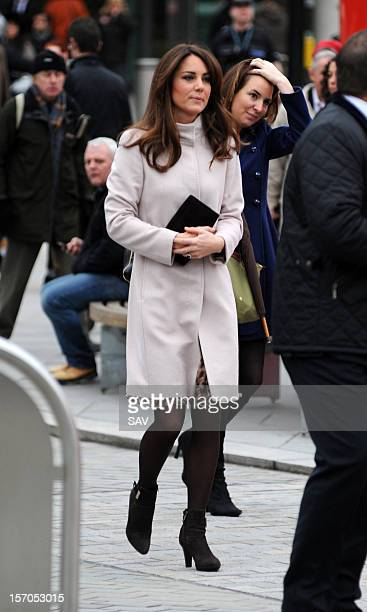 Catherine Duchess of Cambridge arrives to Kings Cross train station on November 28 2012 in London England
