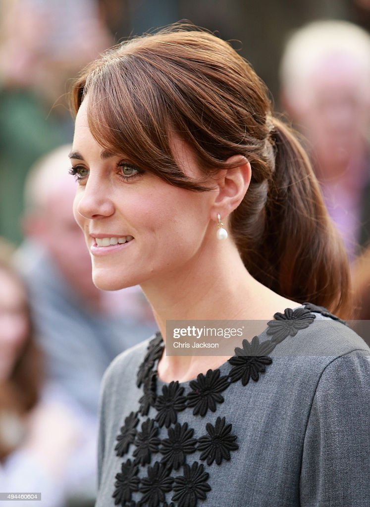 The Duchess Of Cambridge Meets Children And Mentors From Chance UK's Early Intervention Programme : News Photo