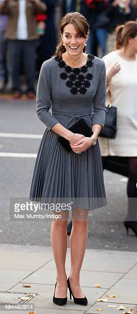 Catherine Duchess of Cambridge arrives to meet children and mentors from Chance UK's Early Intervention Programme at Islington Town Hall on October...