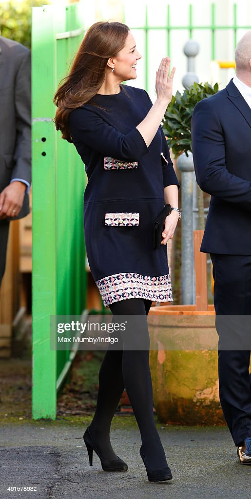 The Duchess Of Cambridge Officially Names The Clore Art Room At Barlby Primary School : News Photo