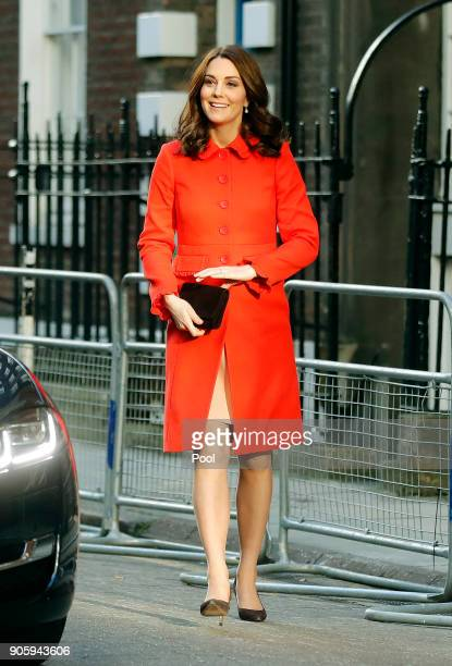 Catherine Duchess of Cambridge arrives to officially open the Mittal Children's Medical Centre home to the new Premier Inn Clinical Building at Great...