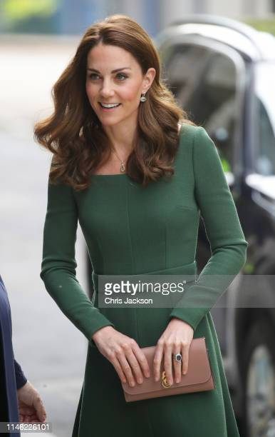Catherine, Duchess of Cambridge arrives to officially open the new Centre of Excellence at Anna Freud Centre on May 01, 2019 in London, England. The...