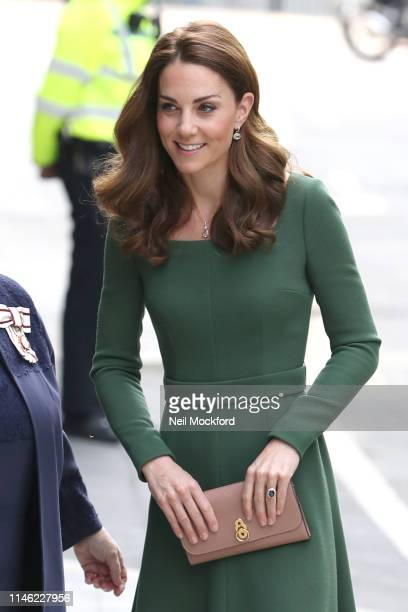 Catherine Duchess of Cambridge arrives to officially open the new Centre of Excellence at Anna Freud Centre on May 01 2019 in London England