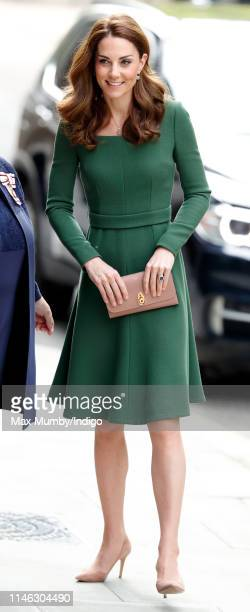 Catherine, Duchess of Cambridge arrives to officially open the new Anna Freud Centre Of Excellence on May 1, 2019 in London, England. The Duchess of...