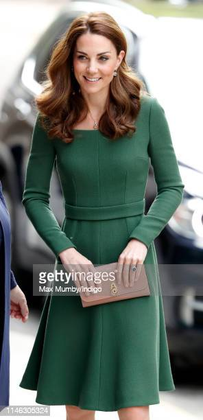 Catherine Duchess of Cambridge arrives to officially open the new Anna Freud Centre Of Excellence on May 1 2019 in London England The Duchess of...