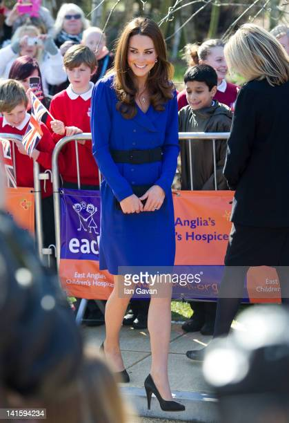 Catherine Duchess of Cambridge arrives to officially open The Treehouse Children's Hospice on March 18 2012 in Ipswich England