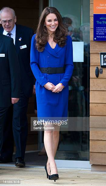 Catherine Duchess of Cambridge arrives to officially open The Treehouse Children's Hospice on March 19 2012 in Ipswich England