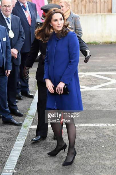 Catherine Duchess Of Cambridge arrives to open the Action On Addiction Community Treatment Centre in Essex on February 7 2018 in Wickford England