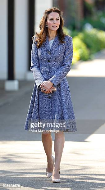 Catherine Duchess of Cambridge arrives to open the Magic Garden at Hampton Court Palace on May 4 2016 in London England