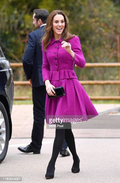 Catherine, Duchess of Cambridge arrives to open The Nook Children Hospice on November 15, 2019 in Framingham Earl, Norfolk.The Duchess of Cambridge...