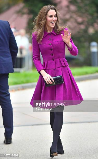 Catherine Duchess of Cambridge arrives to open The Nook Children Hospice on November 15 2019 in Framingham Earl Norfolk The Duchess of Cambridge is...