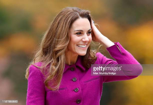 Catherine, Duchess of Cambridge arrives to open 'The Nook' Children's Hospice on November 15, 2019 in Framingham Earl, Norfolk. The Duchess of...