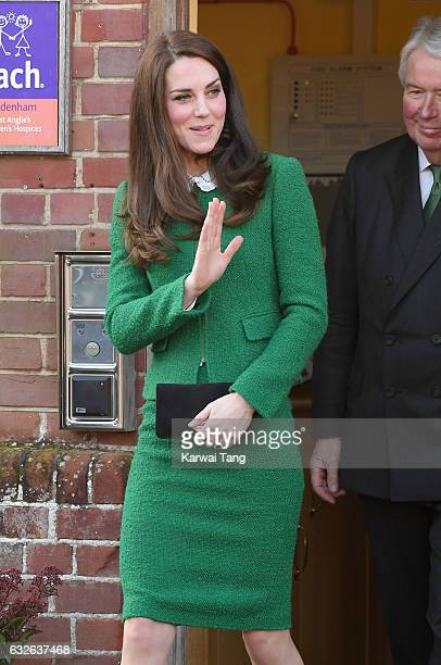 Catherine Duchess of Cambridge arrives to receive an update on The Nook Appeal at EACH on January 24 2017 in Quidenham Norfolk HRH is Royal Patron of...