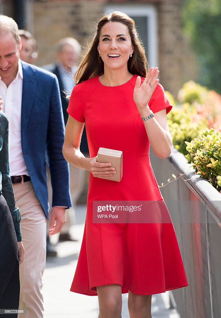 Catherine, Duchess of Cambridge arrives to visit a helpline service run by one of the eight charity partners of Heads Together on August 25, 2016 in London, England.