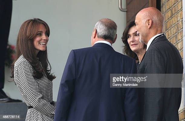 Catherine Duchess of Cambridge arrives to visit the new The Anna Freud Centre in Kings Cross at Anna Freud Centre on September 17 2015 in London...