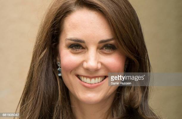 Catherine Duchess of Cambridge as she takes a short walk outside the City Museum to view the capital during a one day visit on May 11 2017 in...