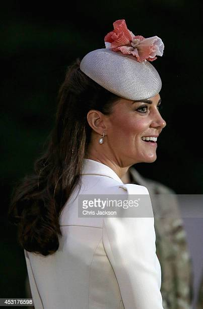 Catherine, Duchess of Cambridge at St Symphorien Military Cemetery on August 4, 2014 in Mons, Belgium. Monday 4th August marks the 100th Anniversary...