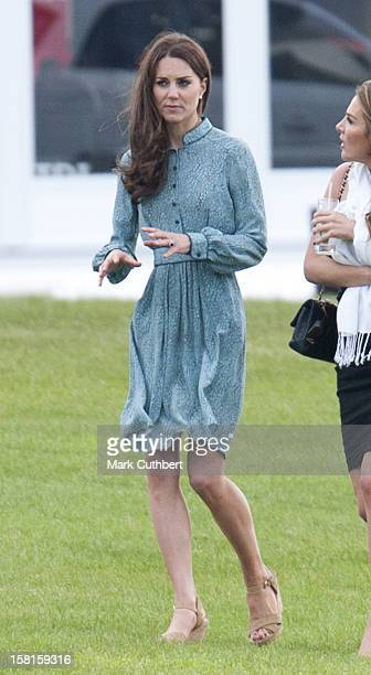 Catherine Duchess Of Cambridge At The Audi Polo Challenge Charity Polo Match At Coworth Park Polo Club In Ascot England