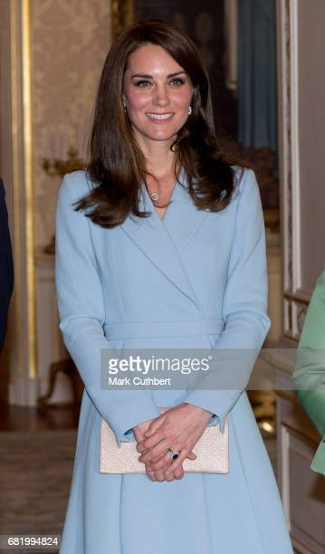 Catherine Duchess of Cambridge at the Grand Ducal Palace during a one day visit to Luxembourg on May 11 2017 in Luxembourg Luxembourg