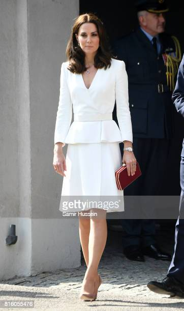 Catherine Duchess of Cambridge at the Warsaw Rising Museum with Prince William Duke of Cambridge on day 1 of their official visit to Poland on July...