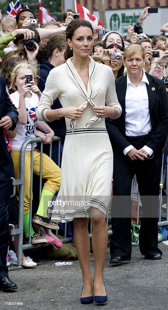 Catherine, Duchess of Cambridge attend a welcome ceremony at Province House on day 5 of the Royal Couple's North American Tour, July 4, 2011 in Charlottetown, Prince Edward Island, Canada.