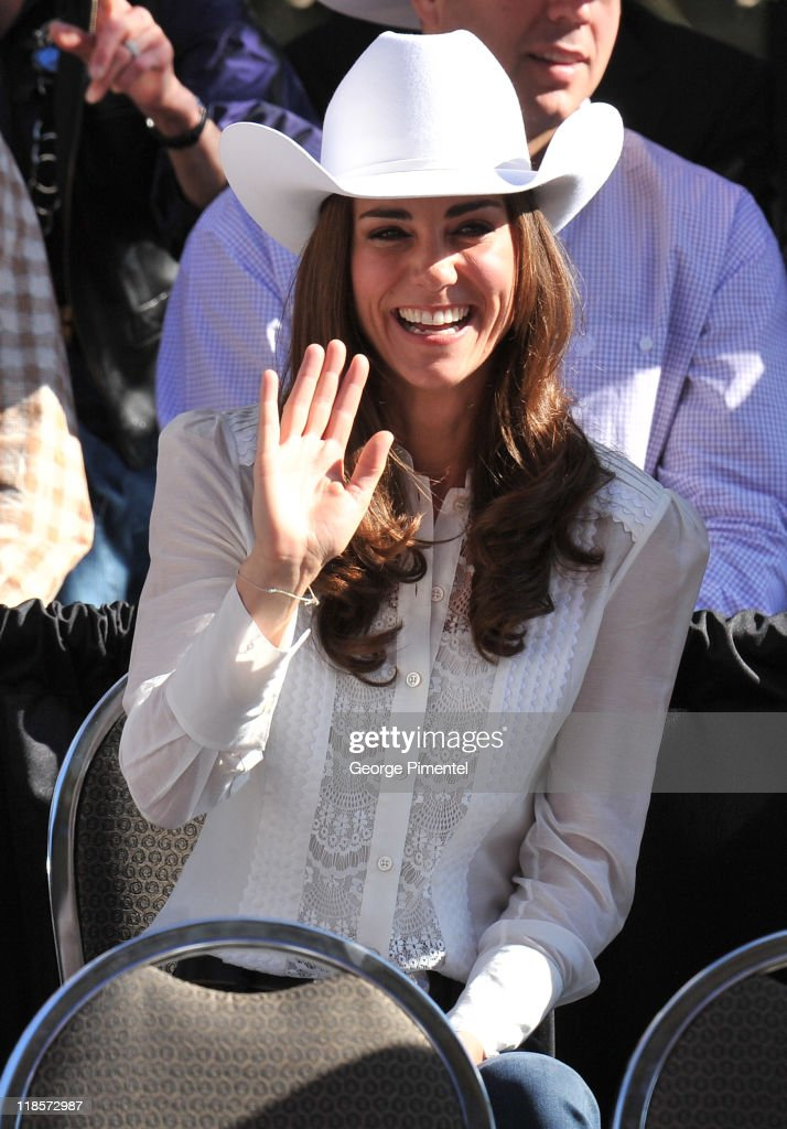 Catherine, Duchess of Cambridge attend the Calgary Stampede Parade on day 9 of the Royal couple's tour of North America on July 8, 2011 in Calgary, Canada.
