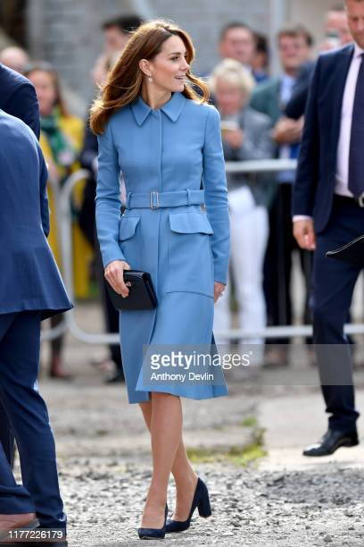 Catherine Duchess of Cambridge attend the naming ceremony for The RSS Sir David Attenborough on September 26 2019 in Birkenhead England