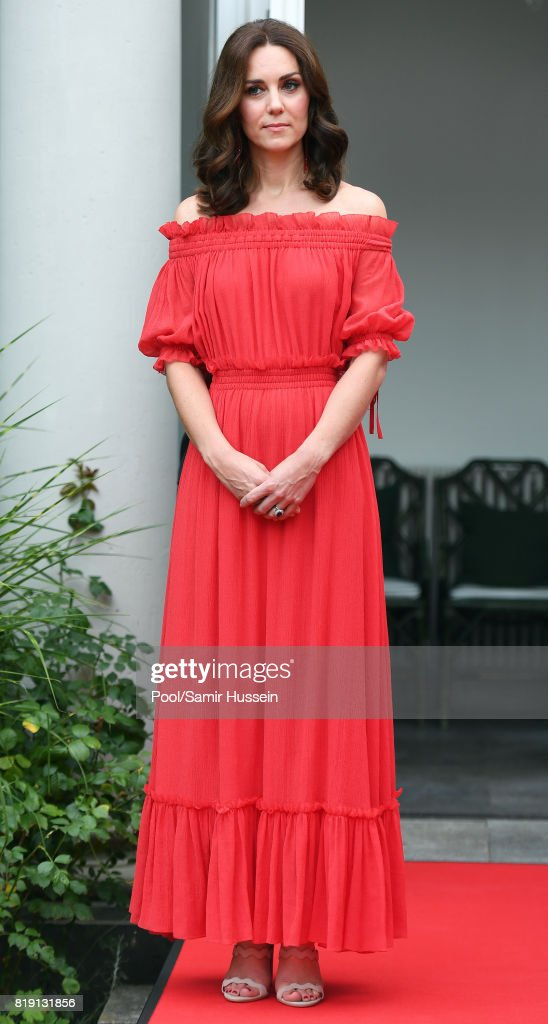 Catherine, Duchess of Cambridge attenda The Queen's Birthday Party at the British Ambassadorial Residenceduring an official visit to Poland and Germany on July 19, 2017 in Berlin, Germany.