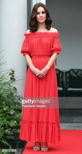 Catherine Duchess of Cambridge attenda The Queen's Birthday Party at the British Ambassadorial Residenceduring an official visit to Poland and...