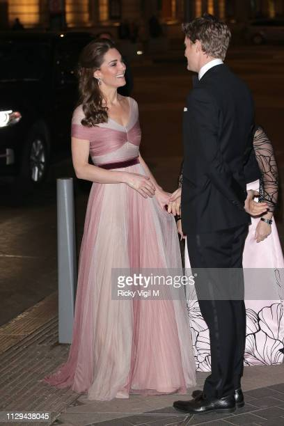 Catherine, Duchess of Cambridge attends 100 Women in Finance Gala dinner in support of 'Mentally Healthy Schools' at The V&A on February 13, 2019 in...