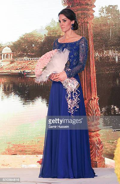 Catherine Duchess of Cambridge attends a Bollywood Inspired Charity Gala at the Taj Mahal Palace Hotel during the royal visit to India and Bhutan on...