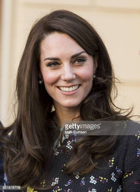 Catherine, Duchess of Cambridge attends a briefing to announce plans for Heads Together ahead of the 2017 Virgin Money London Marathon at ICA on...