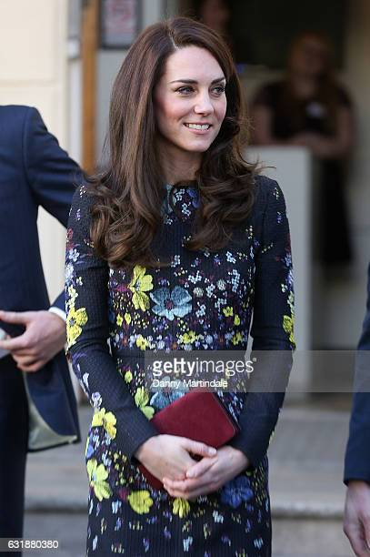 Catherine Duchess of Cambridge attends a briefing to announce plans for Heads Together ahead of the 2017 Virgin Money London Marathon at ICA on...