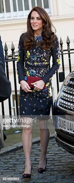 Catherine Duchess of Cambridge attends a briefing to outline the next phase of Heads Together ahead of the 2017 Virgin Money London Marathon at the...