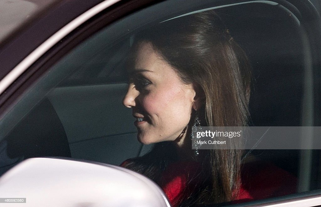 Catherine, Duchess of Cambridge attends a Christmas Lunch at Buckingham Palace on December 17, 2014 in London, England.