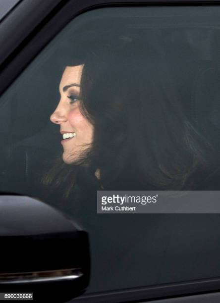 Catherine Duchess of Cambridge attends a Christmas lunch for the extended Royal Family at Buckingham Palace on December 20 2017 in London England