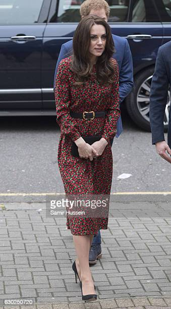 Catherine Duchess of Cambridge attends a Christmas party for volunteers at The Mix youth service on December 19 2016 in London England The Mix youth...