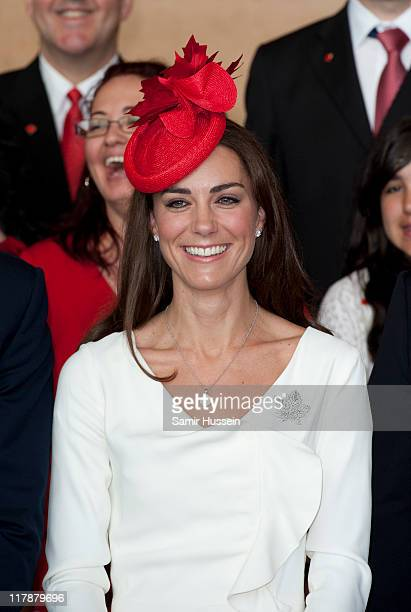 Catherine Duchess of Cambridge attends a citizenship ceremony at The Museum of Civilisation on day 2 of the Royal Couple's North American Tour on...