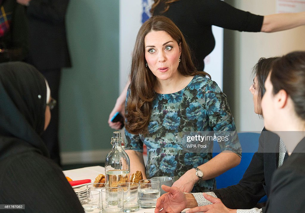 The Duchess Of Cambridge Attends Coffee Morning At Family Friends : News Photo