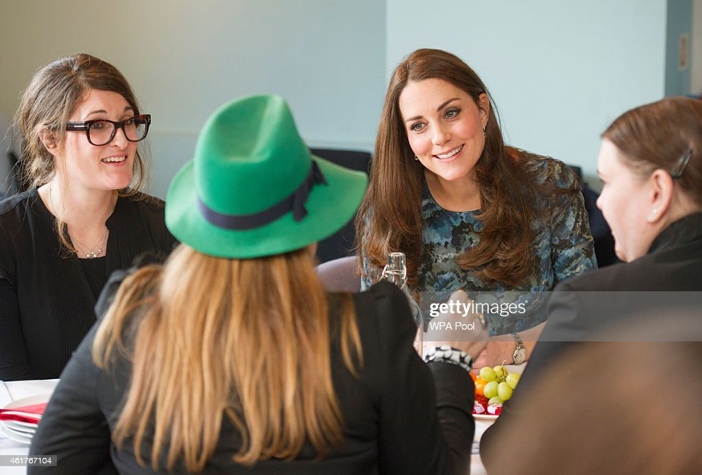 Catherine, Duchess of Cambridge attends a coffee morning at Family Friends in Kensington on January 19, 2015 in London, England. Family Friends is a voluntary organisation to help families in deprived areas of the borough of Kensington.