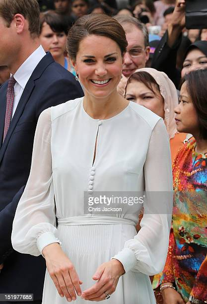 Catherine Duchess of Cambridge attends a cultural event on day 4 of Prince William Duke of Cambridge and Catherine Duchess of Cambridge's Diamond...