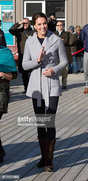 Catherine Duchess of Cambridge attends a cultural welcome on September 28 2016 in Carcross Canada