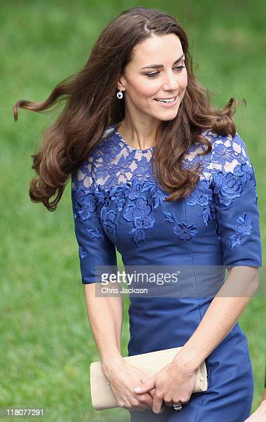 Catherine Duchess of Cambridge attends a Freedom of the City Ceremony outside City Hall on July 3 2011 in Quebec Canada The newly married Royal...