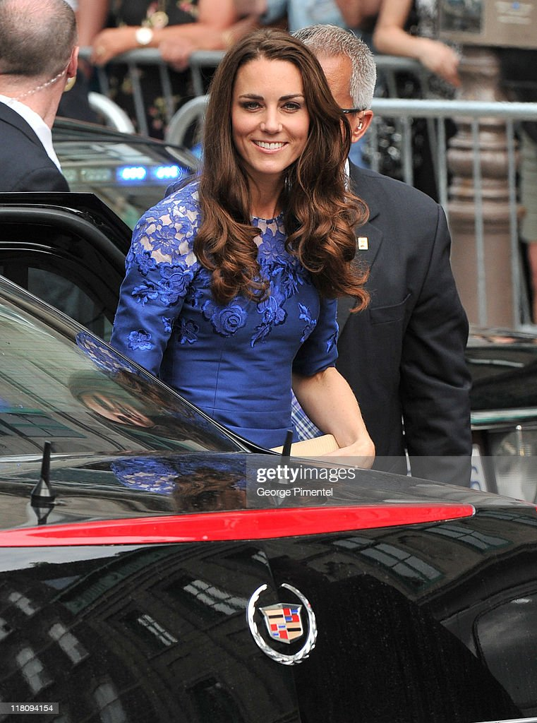 Catherine, Duchess of Cambridge attends a Freedom of the City Ceremony outside City Hall on July 3, 2011 in Quebec, Canada.