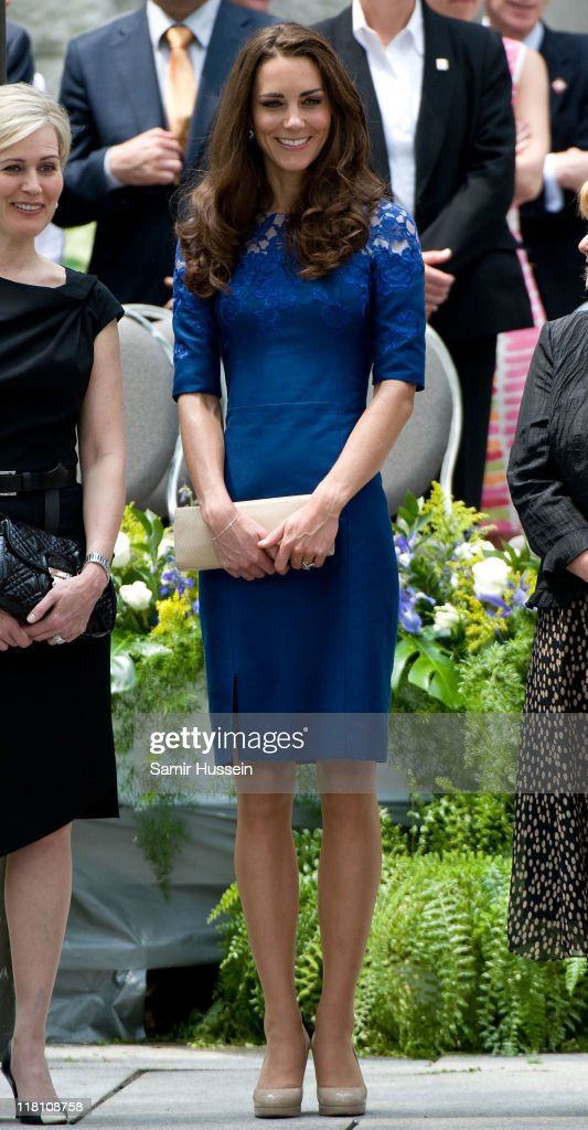 Catherine, Duchess of Cambridge attends a Freedom of the City Ceremony outside City Hall on day 4 of the Royal Couple's North American Tour, July 3, 2011 in Quebec, Canada.