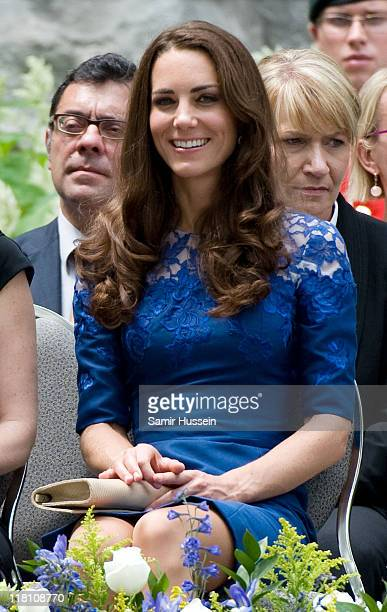 Catherine Duchess of Cambridge attends a Freedom of the City Ceremony outside City Hall on day 4 of the Royal Couple's North American Tour July 3...