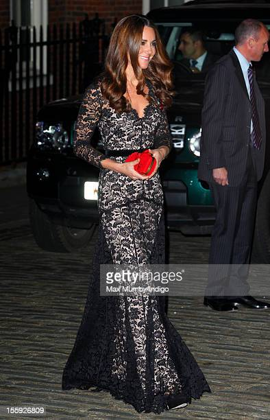 Catherine Duchess of Cambridge attends a gala dinner in aid of the University of St Andrews 600th Anniversary Campaign at Middle Temple Hall on...