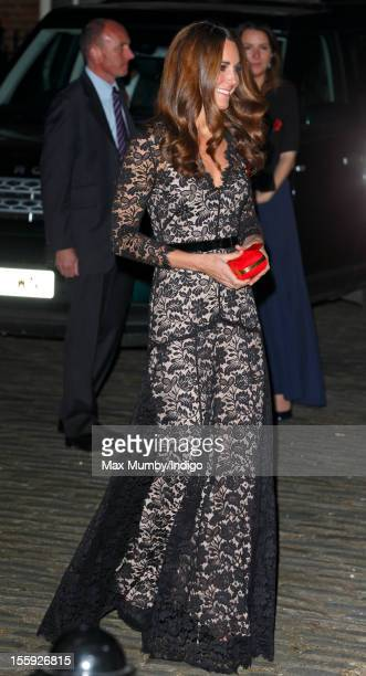 Catherine, Duchess of Cambridge attends a gala dinner in aid of the University of St. Andrews 600th Anniversary Campaign at Middle Temple Hall on...