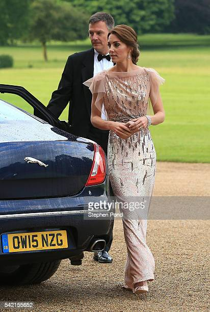 Catherine Duchess of Cambridge attends a gala dinner in support of East Anglia's Children's Hospices' nook appeal at Houghton Hall on June 22 2016 in...