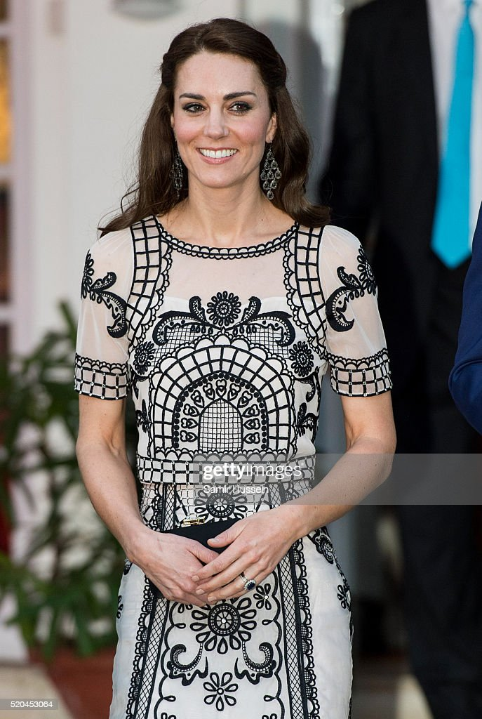 Catherine, Duchess of Cambridge attends a Garden party celebrating the Queen's 90th birthday on April 11, 2016 in New Delhi, India.